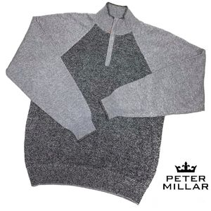Mens Peter Millar 100% Pure Cashmere 1/4 Zip Large